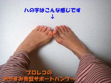 骨盤体操ハの字イメージ