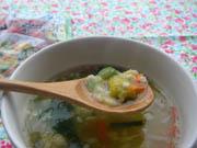 緑黄色野菜と玉子