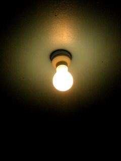 豆電球点灯