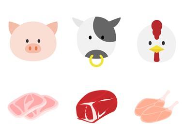 鶏肉豚肉牛肉