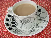 プーアール茶のミルクティー
