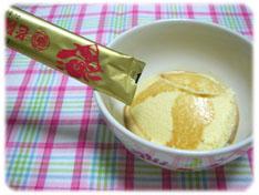 バニラアイスクリームに