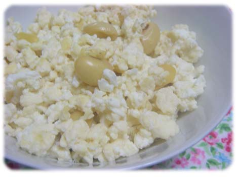 大豆入り豆腐卵白ごはん